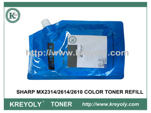 RECARGA DE POLVO DE TÓNER DE COLOR para SHARP MX2314 / 2614/2610