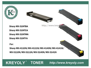 Tóner de color MX-51 para Sharp Mx4110n / Mx4111n / Mx5110n / Mx5111n / Mx5112n